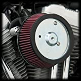 Arlen Ness 18-560 Big Sucker Stage 1 Air Cleaner Kit with Black Backing Plate...
