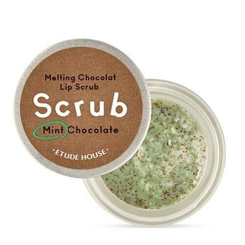 Etude House Melting Chocolate Lip Scrub - Cuidado de labios con chocolate derretido y menta, 12 g, exfoliante de labios