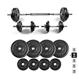 RitFit Adjustable Dumbbells Set, Fitness Free Weights 40, 50, 60, 80, 100 lbs with Connector Options for Men and Women Home Gym Workout Bodybuilding Training (50)
