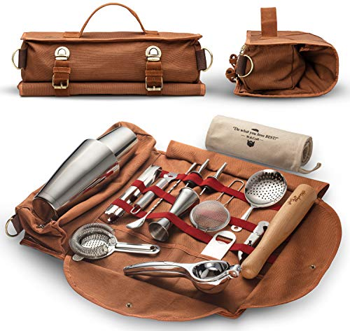 Travel Bartender Kit Bag | 17-piece Bar Tool Set