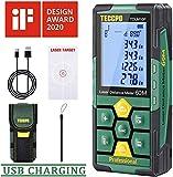 Télémètre laser 50m TECCPO, USB 30mins Charge rapide, Capteur d'angle...