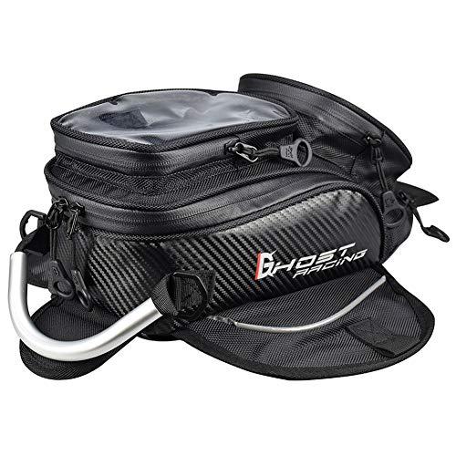 ETbotu Motorrad-Tankrucksack Wasserdichter Motorrad-Satteltaschen-Rucksack mit Einer Umhängetasche