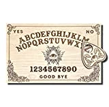 Large Wooden Ouija Board - Talking Board - Spirit Board - Large Size 18 x 11.4'' Handmade Wooden Premium Quality Board and Planchette