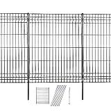 Hopesun Decorative Garden Fence Fast Installation Multi-Purpose Metal Pet Fence Kit Outdoor