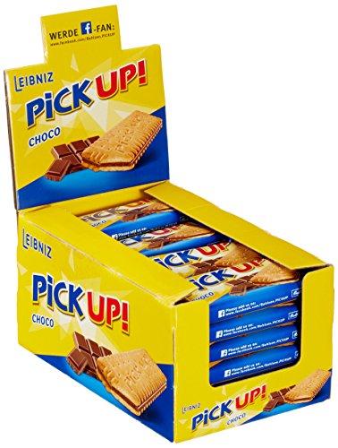 PiCK UP! Choco - Keksriegel - 24 Einzelpackungen im Thekenaufsteller - 2 Butterkekse mit knackiger Vollmilchschokolade (24 x 28 g)