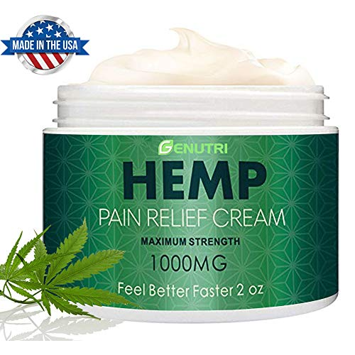 NUTRILUSH Hemp Pain Relief Cream - 2000mg - Relieve Sprains, Muscle, Back, Joint and Arthritis Pain - High Vitamins and Nutrients - Effective Hemp Cream for Pain and Inflammation