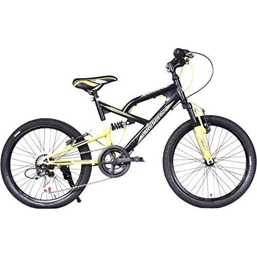 Hero Flake 20T 6 Speed Kids' Bike (Black Yellow, Ideal For : 7 to 9 Years )