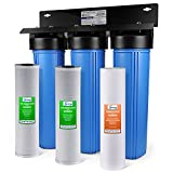 iSpring WGB32B 3-Stage Whole House Water Filtration System w/ 20-Inch...