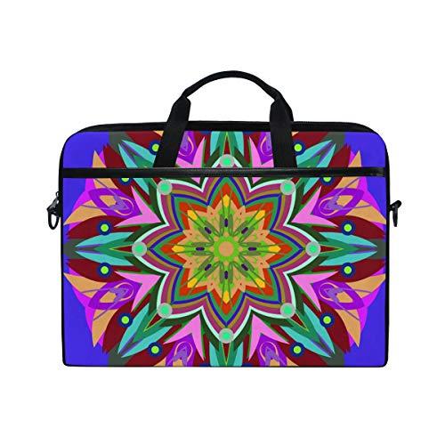 LZXO Laptop-Tasche 15 Zoll Aktentasche Abstrakte Mandala Blu