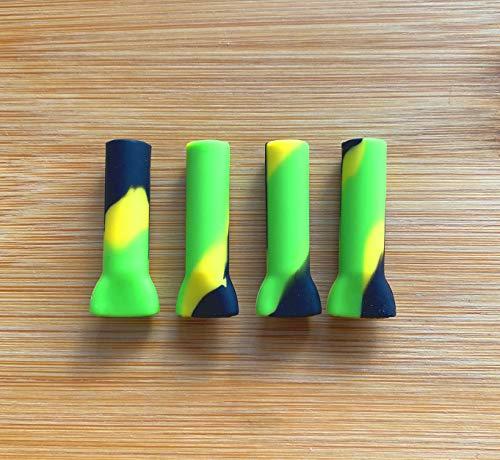 {x4 Pack} Filtro Boquilla de silicona reutilizables para cigarros de liar, ideal para fumadores de hierba seca