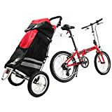 ZiZZO Compact Folding Cargo Bike Trailer with a Free Tote Bag and a Free Large Shopping Bag
