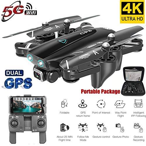 ETbotu Drone S167 GPS con videocamera 5G RC Quadcopter Drone 4K WIFI FPV Pieghevole in volo...