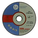 6' x .045 x 7/8' T1 Premium Thin Cut-Off Wheel Metal & Stainless Steel - 25 Pack