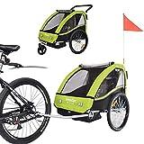 TIGGO World Convertible Jogger Remorque à Vélo 2 en 1, pour Enfants...
