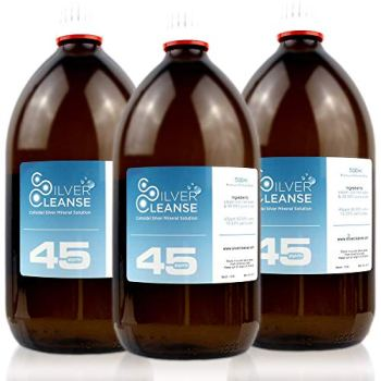 Silvercleanse Colloidal Silver 3 x 500 45ppm. Backed by 25 Years of Experience. Made in The UK