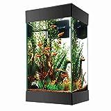 Aqueon LED Aquarium Starter Kit Column Black 15 Gallon