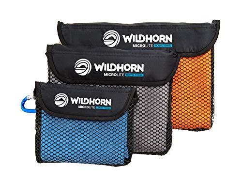 Wildhorn Microlite Travel Towel Set - Microfiber Quick Dry Towel Bundle for Camping, Hiking & Backpacking