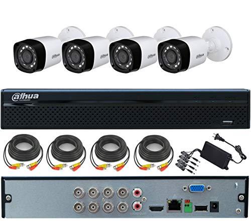 KIT VIDEOSORVEGLIANZA 4 TELECAMERE 4 MP, XVR 8 CANALI 5 MP OMAGGIO CAVI ED ALIMENTATORE 4 USCITE