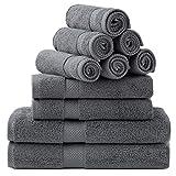 Bedsure Bath Towels Sets for Bathroom, Combed Cotton Bathroom Towels Set - 10 Pack, 2 Bath Towels...