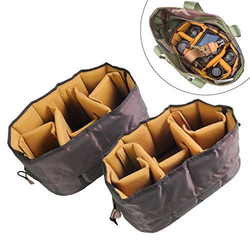 【フレキシブル カメラインナーバッグ ケース】(Lサイズ) 一眼レフ カメラバッグ インナーバッグ ソフトクッションボックス