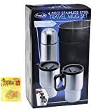 4 Piece Stainless Steel Travel Mug Thermos Gift Set Top Unique Last...