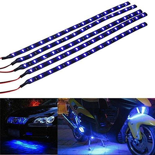 Mintice 5 X blu 12V striscia luminosa sottoscocca impermeabile flessibile 15 LED 30 centimetri auto veicolo auto griglia