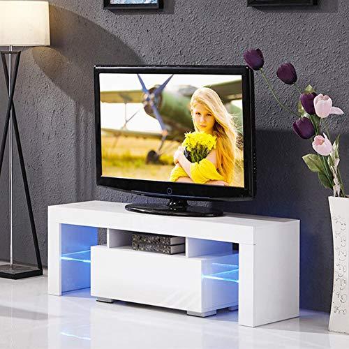 Mobile TV moderno lucido in legno LED con cassetto portaoggetti e luce LED per soggiorno, camera da...