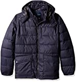 Nautica Men's Big and Tall Brushed Harringbone Jacket with Removable Hood, Navy, 2XT