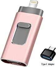USB Flash Drive 128GB [3-in-1] Compatible iPhone, Kimiandy USB 3.0 Adapter External..