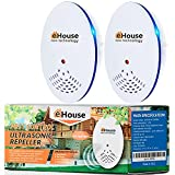 eHouse BH-1, 2 Pack - Ultrasonic Pest Repeller - Electronic & Ultrasound