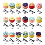 56 PCS Stainless Steel Icing Tips...