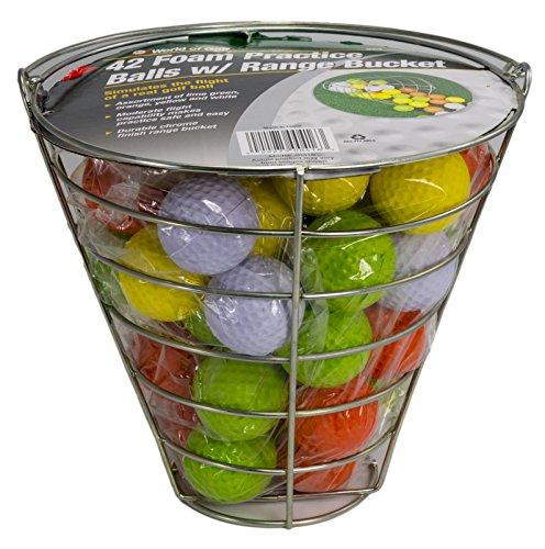 Product Image 1: Jef World of Golf Foam Practice Balls (42 Multi-Colored Balls)