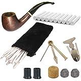 CESFONJER Set de Pipes à Tabac en Bois, Pipe en Bois Créatif...