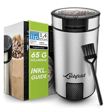 Liebfeld - Elektrische Kaffeemühle mit 65g Füllmenge