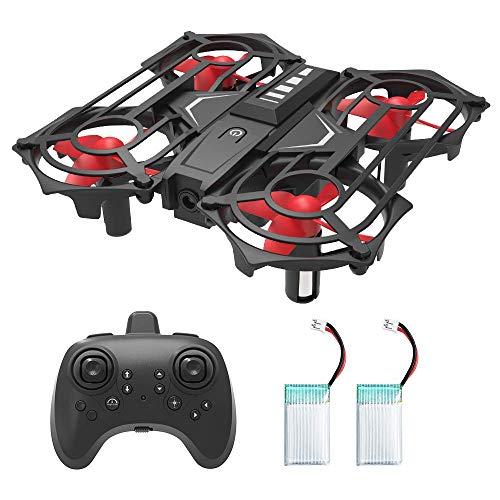 HOMMINI Mini Drohne für Kinder und Anfänger, RC Drone Quadrocopter mit Höhe-halten, Kopflos-Modus, EIN-Tasten-Rückkehr, Best Spielzeug Drone für Kinder, mit zusätzlicher Batterie