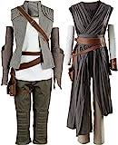 Cosplaysky Women Halloween Tunic Outfit for Rey Costume Ver.2 Medium Grey