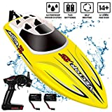 YEZI Remote Control Boat for Pools & Lakes,Udi001 Venom Fast RC Boat for Kids & Adults,Self Righting Remote Controlled Boat W/Extra Battery