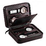 Zixin -BX 4 Grids Hommes Femmes Montre Voyage Case PU Cuir Portable Montre...