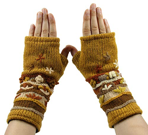 RW Hand Knit 100% Wool Fleece Lined Hand Warmer/Glove