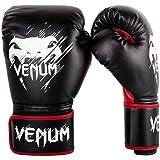 Venum Contender - Guantes de boxeo para niños, color negro / rojo, talla 8 oz