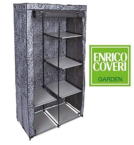 Enrico Coveri Contemporary Armadio Salvaspazio Guardaroba in Tessuto 89x46x169 centimetri colore...