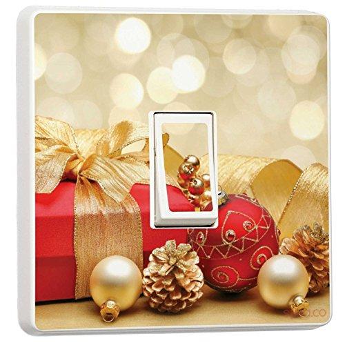 stika.co Weihnachten Deko–Single Lichtschalter Vinyl Aufkleber–Winter Weihnachts Feiertage