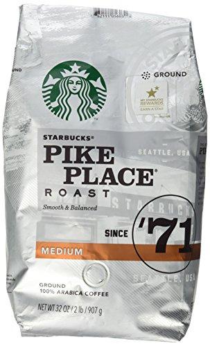 Starbucks Pike Place Roast Ground Coffee, Medium Roast (32 oz bag)