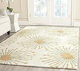 Safavieh Bella Collection BEL123A Handmade Premium Wool Area Rug, 3' x 5', Beige / Gold