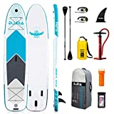 DAMA Inflatable Paddle Boards Stand Up(12'2'x34'x6'), Reinforced Drop Stitch, 550LBS Bearing Stand Up Inflatable Board, Camera Seat, Floating Paddle, Double Action Hand Pump, Dry Bag, Durabl & Stable
