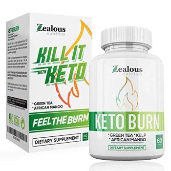 Pure Keto Diet Capsules + Apple Cider Vinegar - Shark Tank Advanced Weight Loss Formula W/Green Tea, Ketones, Kelp - Blend to Burn Fat, Support Ketosis, Boost Energy and Enhance Focus, 60 cap
