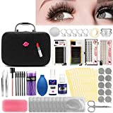 22 pcs Eyelash Extension Kits,Professional Mannequin Head Training Eyelashes Extensions Practice Cosmetology Esthetician Supplies with Eye Lashes Glue Tweezers Tools sets (22PCS)