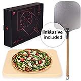 Blumtal - Kit à Pizza - Pierre et Pelle à Pizza - Haute Qualité, Utilisations Diverses