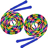 HORKEY 16 FT Long Jump Rope(2 Pack), Double Dutch Jump Rope, Soft Beaded Skipping Rope for Kids Adults,...