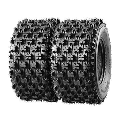 Maxauto ATV Sport Quad Tires 2PCS Rear Tire 20X10-9 20x10x9 4Ply 20 10 9 Tires for 9' Rim Compatible with Honda 400ex 450r 660 700 400 450 350 250/Yamaha Raptor Banshee